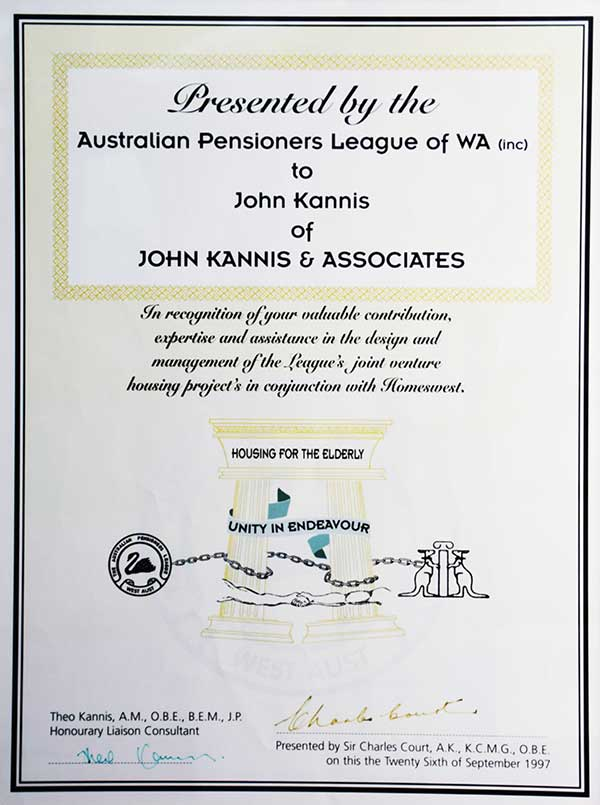 Retirees Award HW
